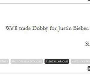 harry potter, justin bieber, and dobby image