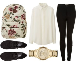 fashion, flower, and outfit image