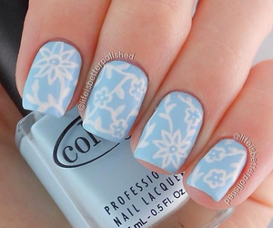 blue, pastel, and nail art image