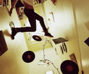 boy, jump, and music image