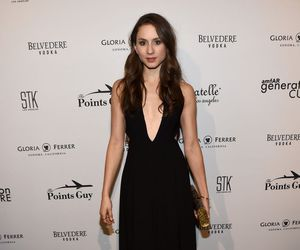troian bellisario, black dress, and fashion image