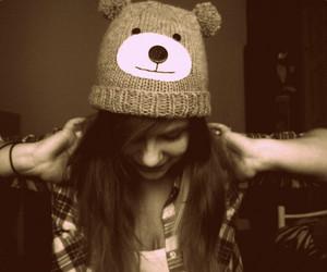 bear, cap, and sweet image