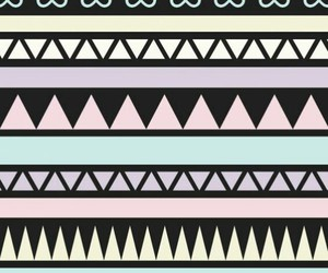 aztec, black, and pink image