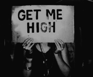 high, black and white, and drugs image