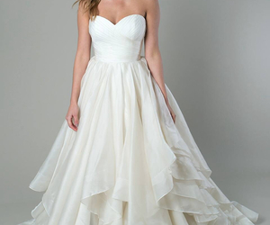 dress, simple, and wedding image