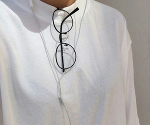 fashion, white, and glasses image