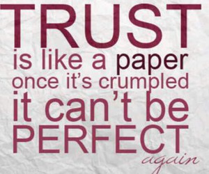 quote, trust, and Paper image