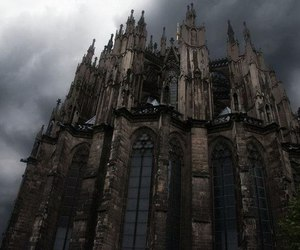 black, castle, and gothic image