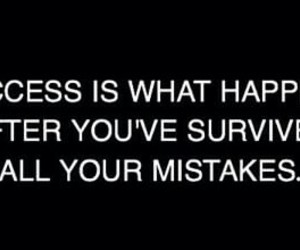 life, mistakes, and success image