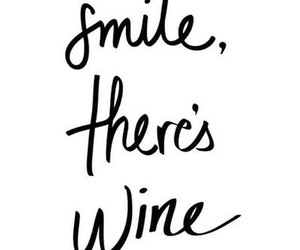wine, smile, and quote image