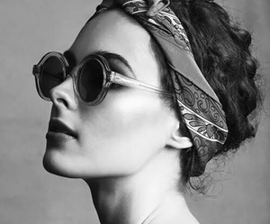black and white, model, and glasses image