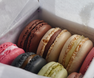 macaroons, food, and chocolate image