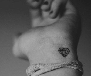 black & white, cool, and diamond image