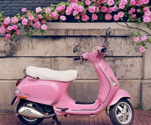 flowers, scooter, and lovely image