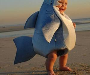 baby, cupcake, and shark costume image