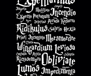 harrypotter, hogwarts, and spell image
