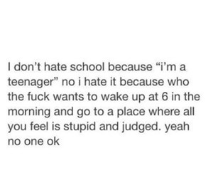 funny, school, and hate image