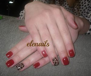 leopard, nails, and love image
