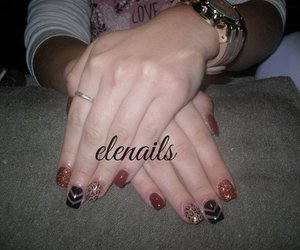 leopard, nails, and uñas image