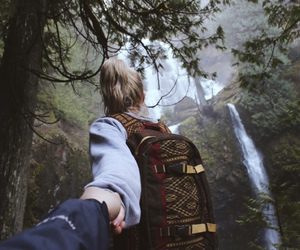 couple, nature, and travel image