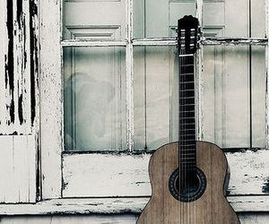 guitar, vintage, and love image