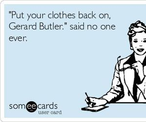 funny, gerard butler, and lol image