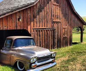 barn, country, and old truck image