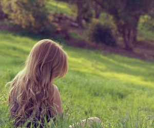 blonde, field, and girl image