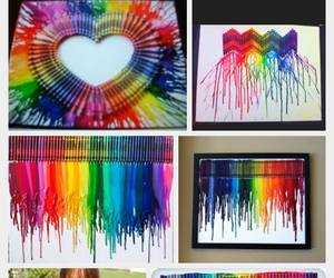 canvas, colorful, and crayons image