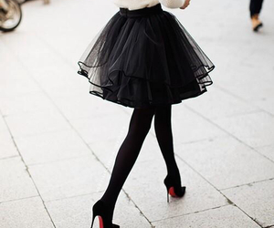 black, white, and fashion image