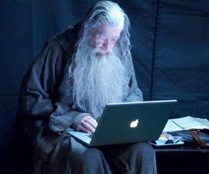 gandalf, apple, and lord of the rings image