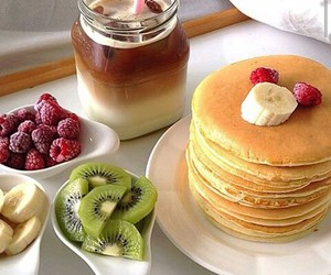 fruit, food, and pancakes image