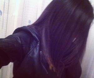 black, brunette, and hair image