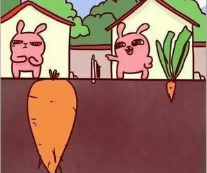carrot, rabbit, and life image