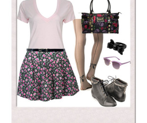 bows, flowers, and Polyvore image