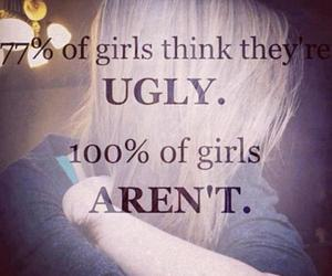 girl, beautiful, and ugly image