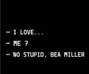 words, love, and bea miller image