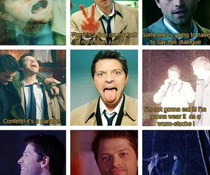 collins, funny, and castiel image