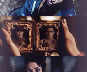 tvd, Bonnie, and damon image