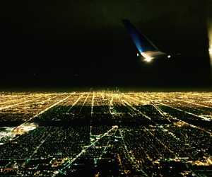 chicago, city, and lights image