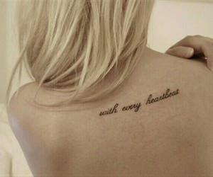 quote, text, and tatoo image