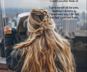 girl, hair, and view image