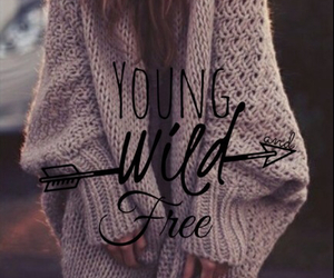 free, wild, and girl image