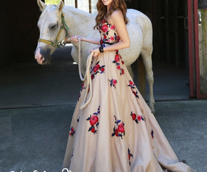 dress, horse, and sherri hill image