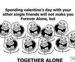 forever alone, friends, and funny image