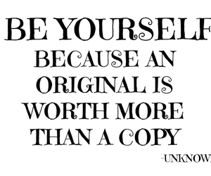 be yourself, beautiful, and quote image