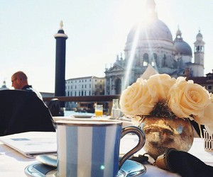 coffee, happiness, and roses image