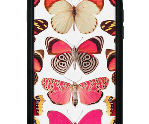 butterflies, butterfly, and pink image