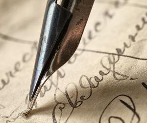 vintage, ink, and Letter image