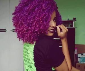 hair, purple, and cabelo colorido image